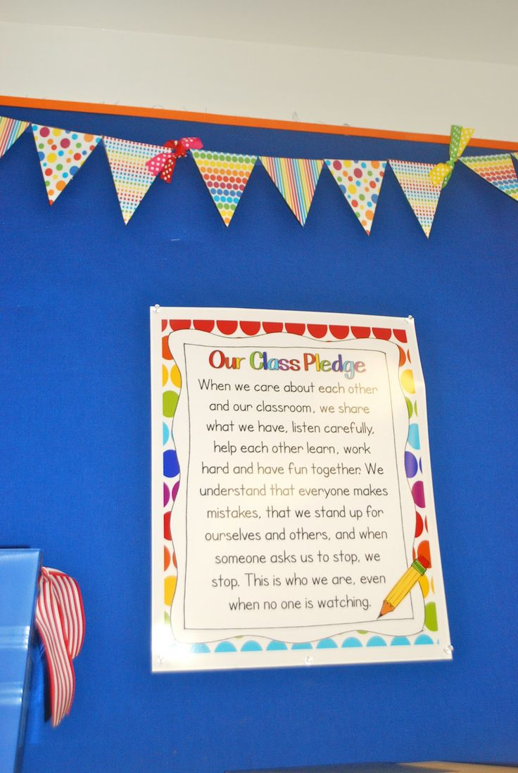 I'm kind of into the idea of a class pledge.