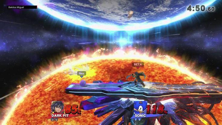 Super Smash Bros Wii U - Beta (Cap.Falcon,Dark Pit,Falco) vs Nes (Ness,S...