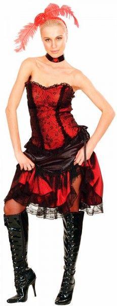 Un déguisement de danseuse Charleston (robe bustier rouge et sexy) : idéal pour être dans les couleurs de Noël le soir du réveillon !