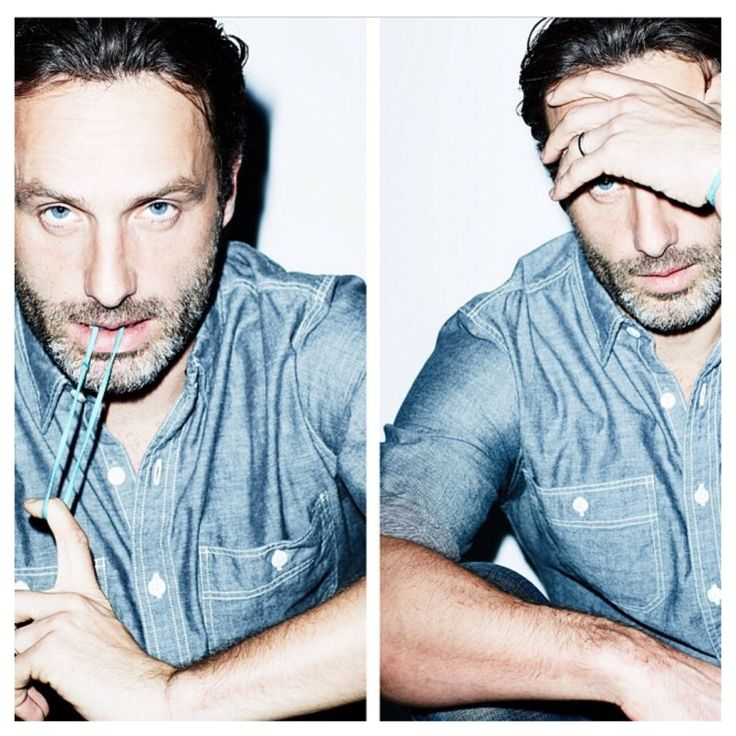 """Andrew Lincoln! Very much so! Yum! Wasn't sure if I should pin this to my """"My oh My"""" Board or my """"Nummy Nummy"""" Board. .."""