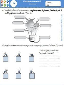 Documents sur l'électricité // Electricity worksheets
