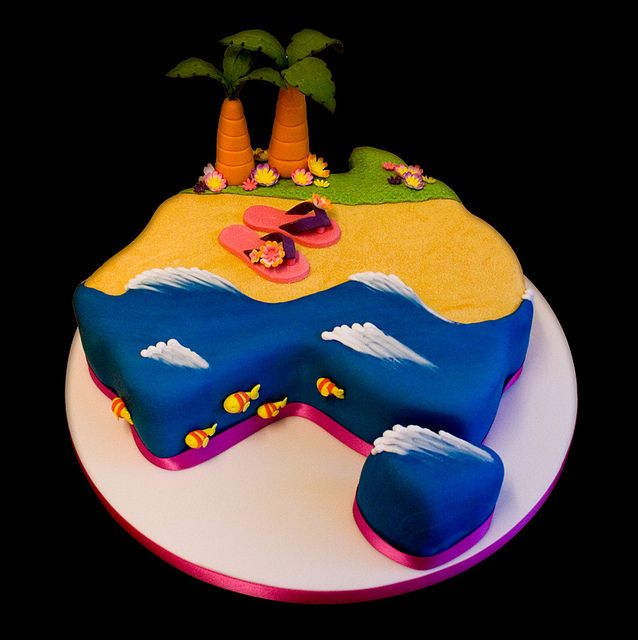 Australia Beach Cake | Flickr - Photo Sharing!