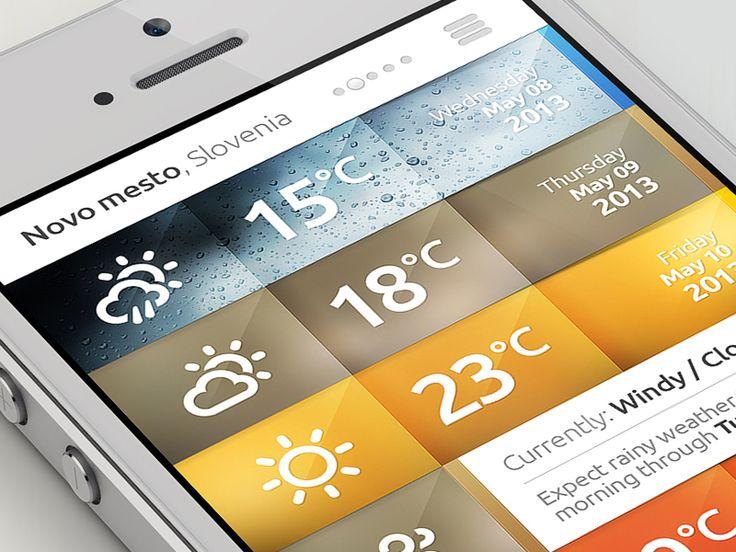 Weather iPhone APP by DrawingArt (Novo mesto, Slovenia) #ui