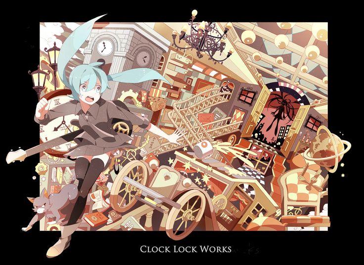 """Clock Lock Works"" Hatsune Miku fanart by Chamooi"