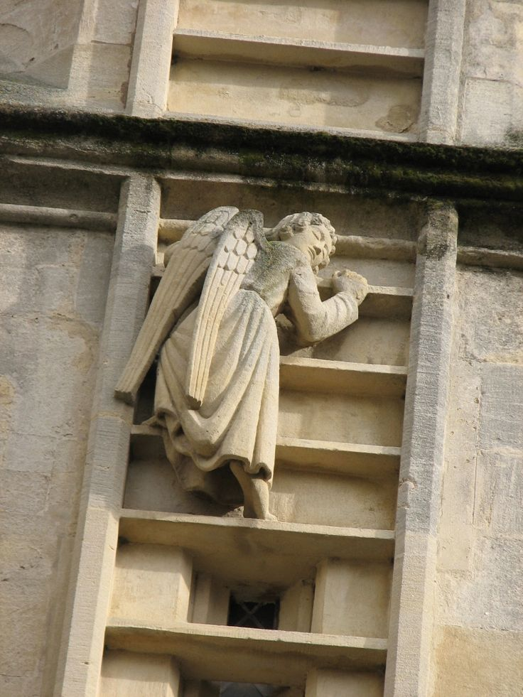 One of several angels climbing Jacob's Ladder on the ...