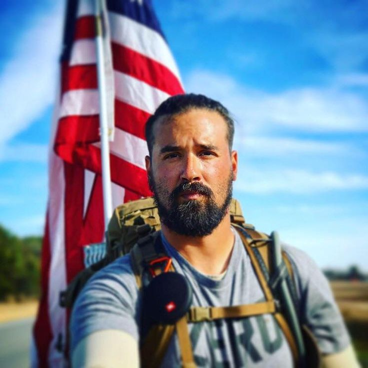 This is Army veteran Ernesto Rodriguez. To raise awareness for the 22 veterans who commit suicide every day Ernesto is currently walking 2200 across America. He refuses cash donations for himself; instead he asks people to donate to veteran charities and befriend veterans. Ernesto is a hero!