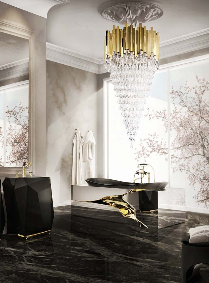 Bathroom Design is no longer just about having a proper sink and bathtub. Is about delivering experiences, and that's precisely what Maison Valentina does.  More inspirations at My Design Agenda