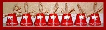 Segnaposto Natale vasi rossi