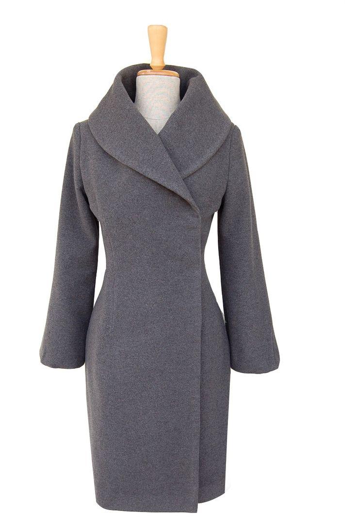 Wełniany płaszcz zimowy