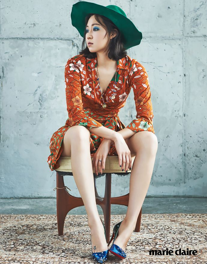 """Gong Hyo Jin Is A """"Modern Vintage Beauty"""" For Marie Claire Korea's September 2015 Issue 