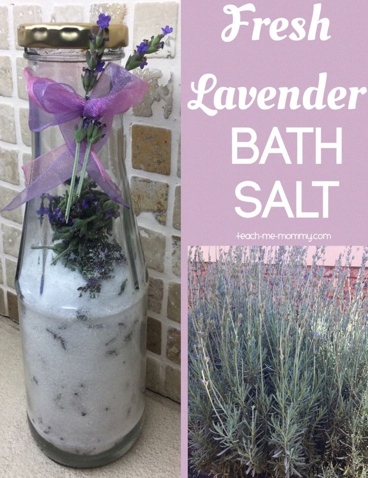 Fresh Lavender Bath Salt, only 3 ingredients!