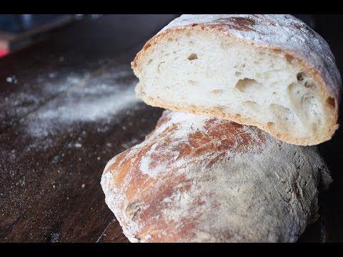 COMO HACER PAN DE CRISTAL muy fácil, pan chapata sin amasado | El mundo de Gracia - YouTube