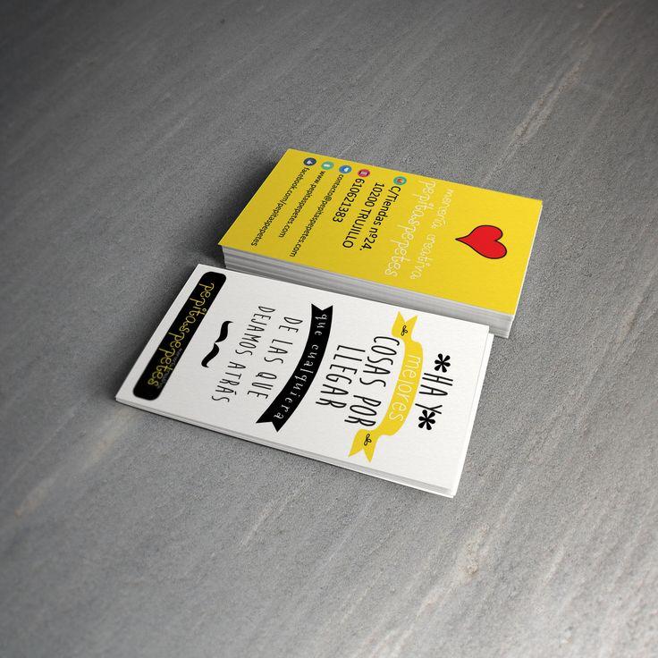 Diseño de tarjeta para Mercería Creativa Pepitaspepetes