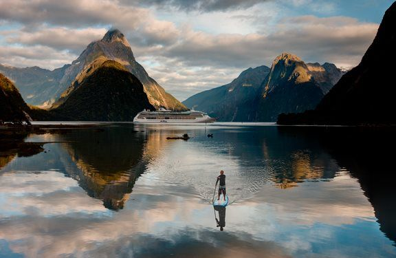 Stand up paddling in Milford Sound - Visit http://standuppaddleboardreviewsite.com
