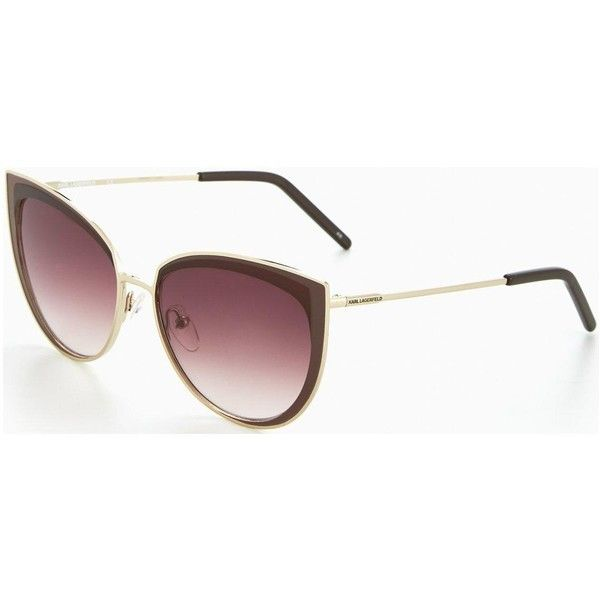 Karl Lagerfeld Swept Cateye Sunglasses (570 BRL) ❤ liked on Polyvore featuring accessories, eyewear, sunglasses, karl lagerfeld eyewear, cat eye glasses, karl lagerfeld, cat eye sunnies and cat eye sunglasses