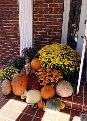Fall front step and patio ideas