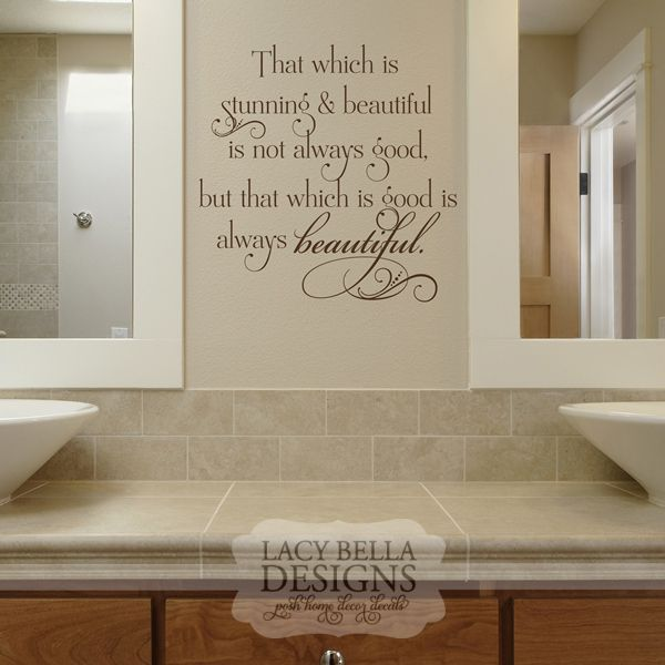 Beautiful Bathroom Quotes 61 best bathroom decals images on pinterest | bathroom decals