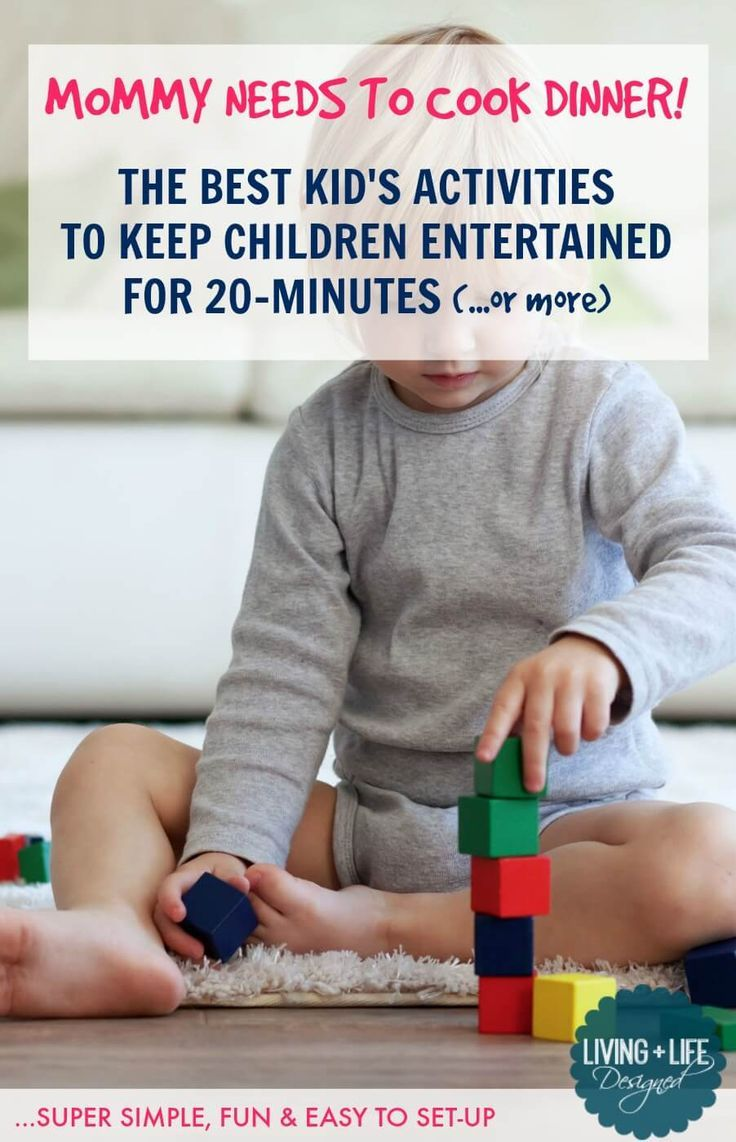 These 20-minute activities for kids are fun and easy to set up in a pinch. Get your kids to play quietly and independently so you can take a break, cook dinner, or catch up on housework.