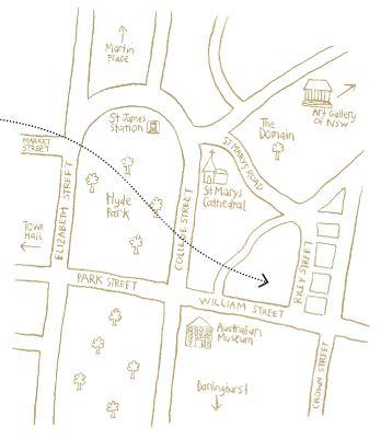 Flour and Stone Map - 58 Riley Street, Woolloomooloo