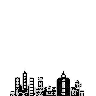 animated, buildings, sky, fireworks, gif