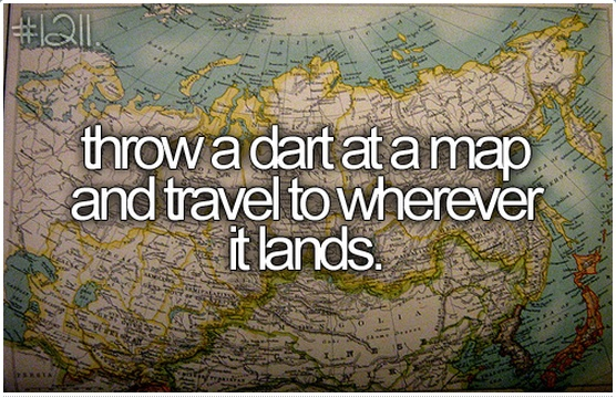 Throw A Dart At A Map And Travel To Wherever It Lands One Day I - Throw a dart at a map of the us