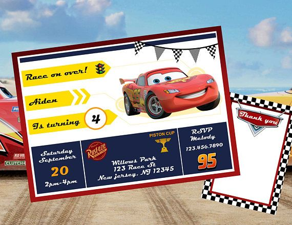 Cars complete birthday party kit!  This listing is for a PRINTABLE digital file for printing at home or uploading to a professional printer - NO physical item will be shipped out. (All items will be sent on 8 1/2 x 11 PDF files.)  A la carte items are available, please ask me about it!  Please check shop announcement for current turn around time on personalized items. ------------------------------------------------------------------------------------------------------- PLEASE PROVIDE TH...