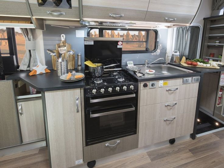 Step back and take it all in. Yes, this kitchen is inside a motorhome - the C7923SL Esperance motorhome to be exact. It is so well appointed even the fusiest chef will be able to prepare a meal fit for a king.
