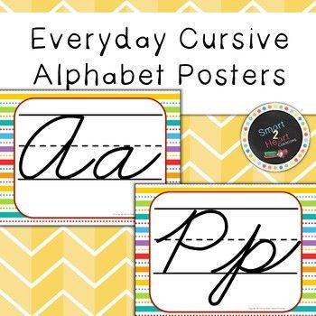 Cursive ABC Flashcards and Posters – Free Printables