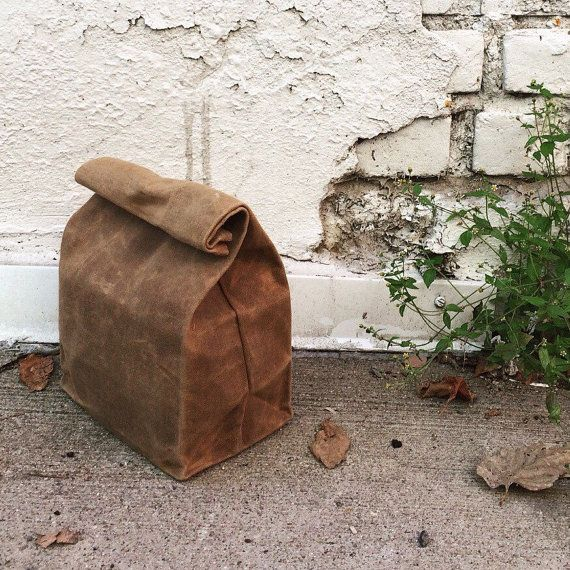 Hey, I found this really awesome Etsy listing at https://www.etsy.com/listing/216870753/lunch-bag-brown-bag-waxed-canvas-lunch