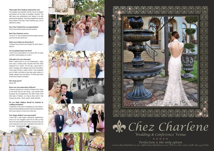 Chez Charlene 5 Star Wedding Venue - Pretoria East - Gauteng - www.chezcharlene.co.za - Real Brides November 2016