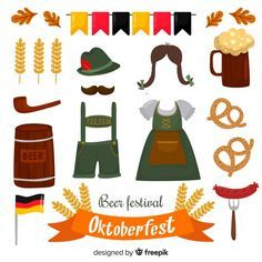 Collection of hand drawn oktoberfest elements. Download for free at freepik.com …