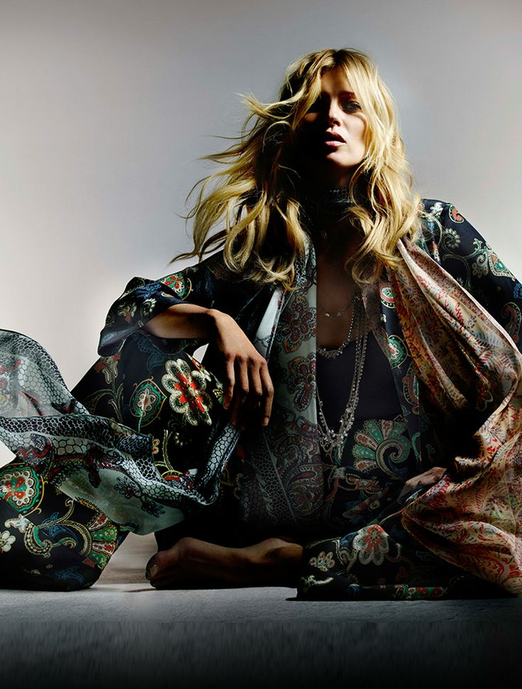 I love the PAISLEY-PRINT SILK OVERCOAT & WIDE-LEG PANTS from the Kate Moss for Topshop collection at Nordstrom.