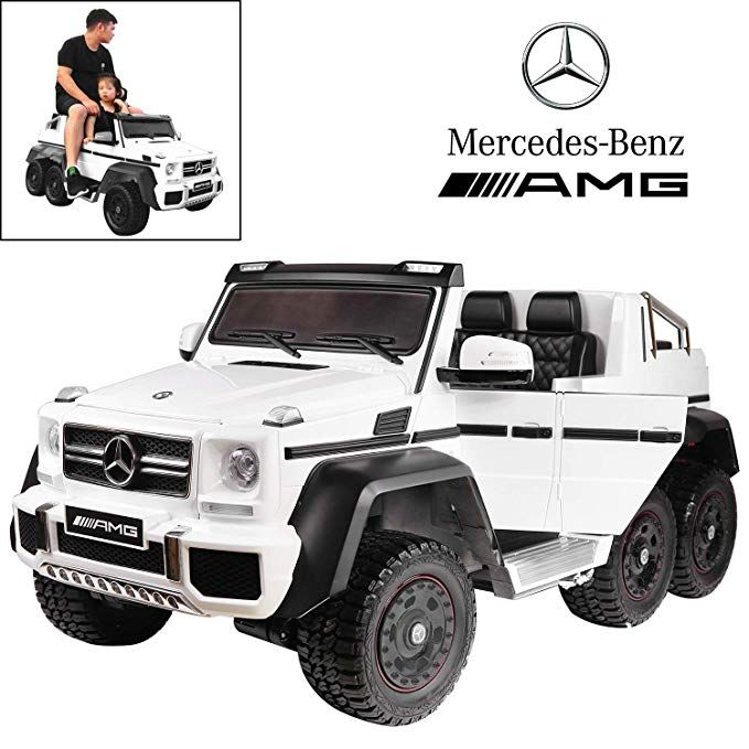 Licensed Mercedes Benz Amg G63 6x6 Electric Ride On Car For Kids With 2 4g Remote Control 12v 6 Motors Parent Seat Mercedes Benz Amg Mercedes Benz Mercedes