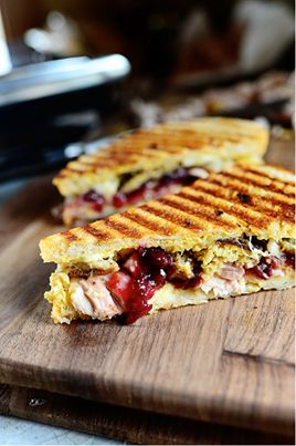 slices Swiss 1/3 cup shredded leftover roasted Thanksgiving turkey ...