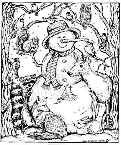 Coloring Winter Animals : Find this pin and more on kids coloring pages. jungle