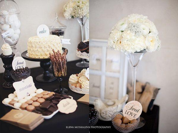 Оформление свадьбы с использованием черного цвета #weddingdecor #hibride #candytable