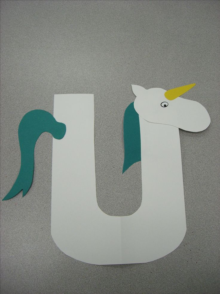U is for Unicorn, Preschool Alphabet Craft