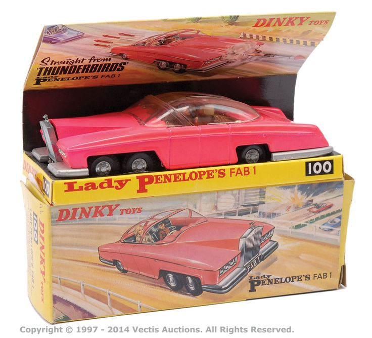 From the Gerry Anderson creation Thunderbirds this is Lady Penelope's FAB 1 made by Dinky Toys (No. 100)  - Vectis Toy Auctions