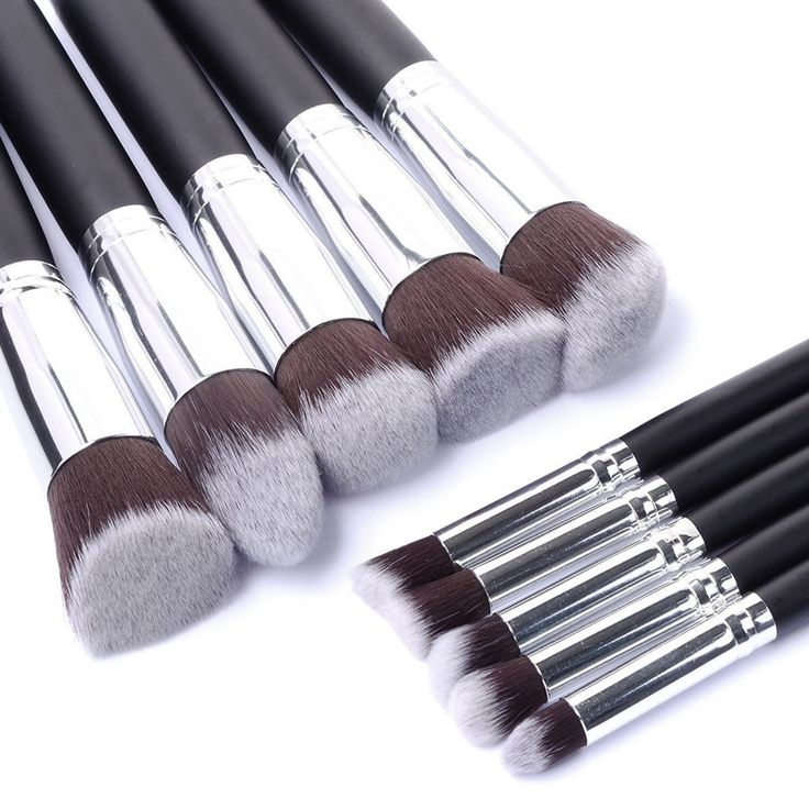 Price-4$                                          New Arrive 10 pcs Synthetic Kabuki Makeup Brush Set Cosmetics Foundation blending blush makeup tool