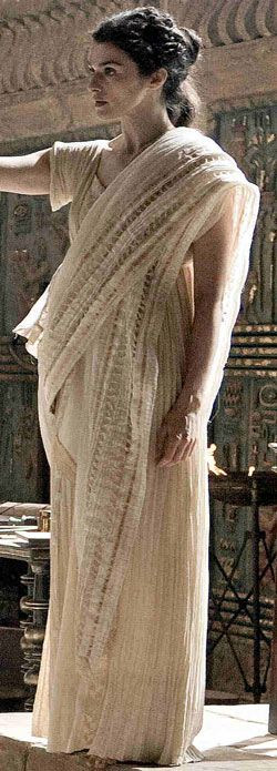 Hypatia of Alexandria - pagan philosopher and scientist who taught students of all religions, the Neoplatonic philosophy that she imparted helped shape the developing Christian doctrine of the Trinity. Linked site has directions for Ionic and Doric chitons (Greek tunics).