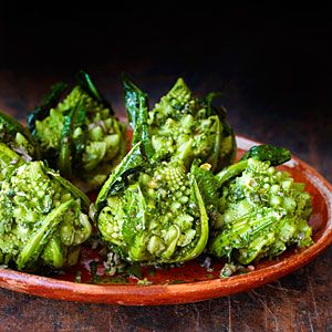 Great Thanksgiving salads and vegetables | Broccoli Romanesco with Green Herb Sauce | Sunset.com