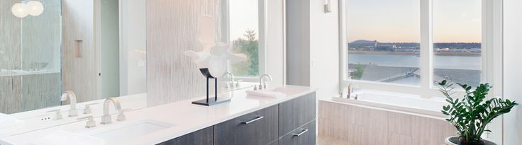 MEGANITE Solid Surface has created over 600 colors and continues to meet leading international standards for quality, hygiene, and safety. Available through Swita Cabinetry.