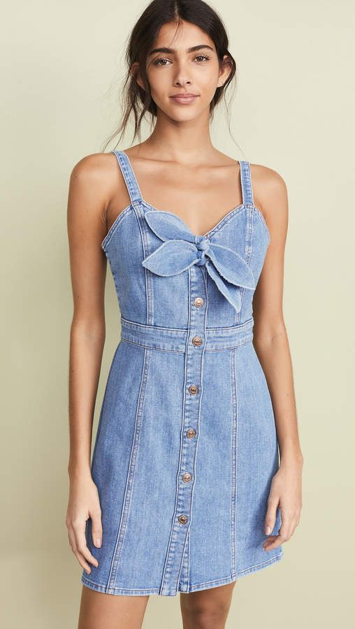 705cfc12850 7 For All Mankind Double Tie Dress in 2019 | Products | Denim ...
