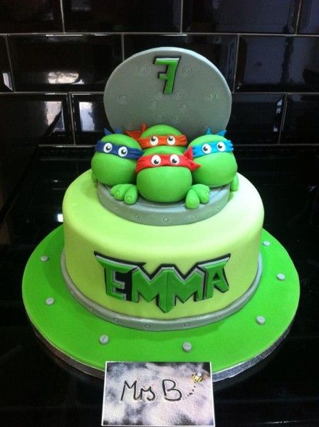 TMNT Teenage Mutant Ninja Turtle Cake - Mrs B Bakes Cakes - PartyAnimalOnline Fan Share.
