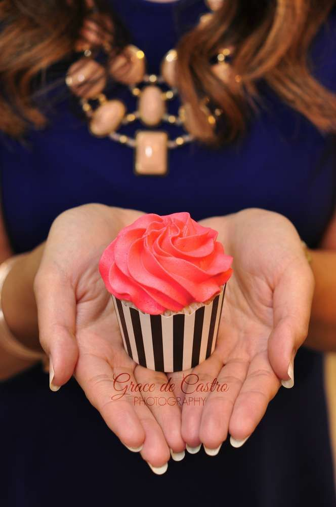 Cool cupcakes at a Kate Spade birthday party! See more party ideas at CatchMyParty.com!