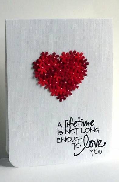 40 best Valentine Handmade Cards images on Pinterest  Card crafts