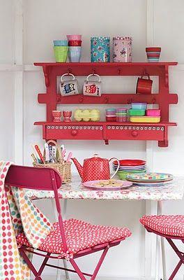 cute red shelf
