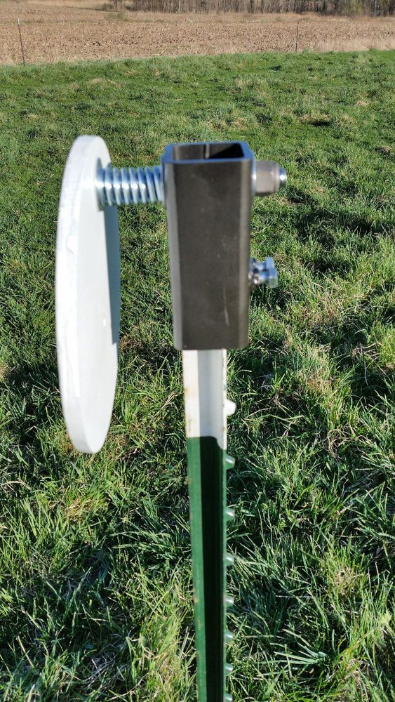 Steel Target Hanger, T-Post AR500 Plate / A36 Target mount #Handmade