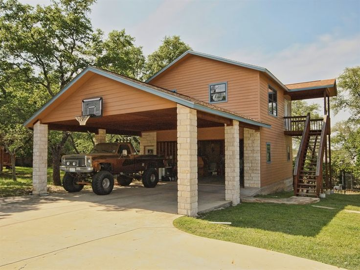 Attractive Garage With Carport In Front   Google Search