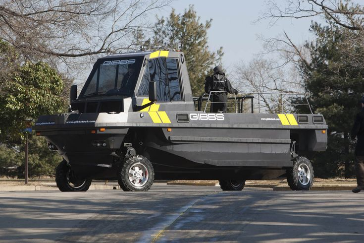 Gibbs Phibian - an amphibious vehicle geared towards first responders that can travel up to 80mph on land and 30mph on water